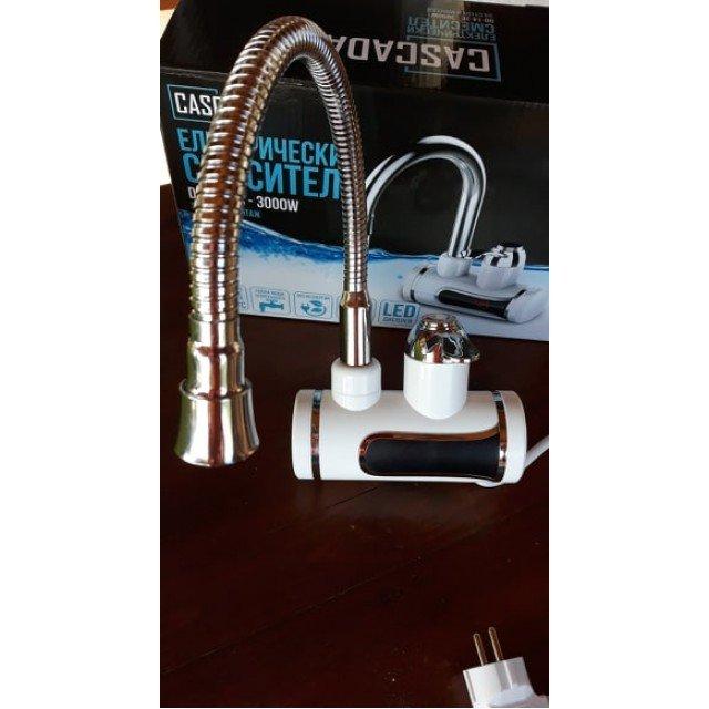 Електрически водонагревател, стенен монтаж, с дисплей, гъвкав чучур, DO-14-3C