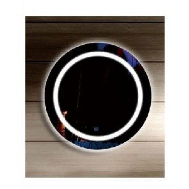 LED огледало, модел B39 кръглo, 60см диам., часовник