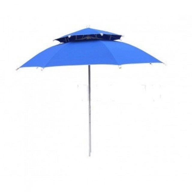 Чадър за плаж ДВОЕН ПОКРИВ и чупещо рамо