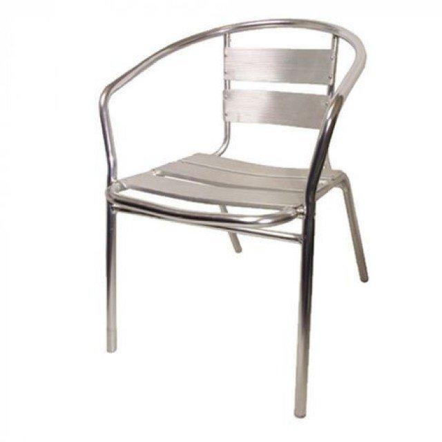 Стол, алуминиев, 56x58x73см
